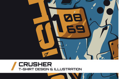 Crusher T-Shirt Illustration