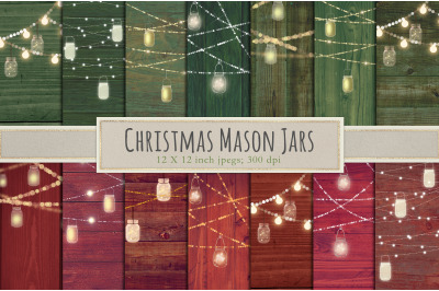 Christmas mason jar backgrounds