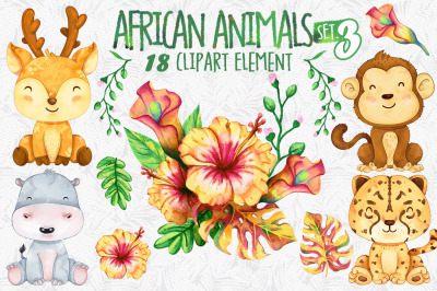 African safari Animals Set 3