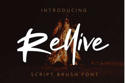 Rellive Brush Script Font