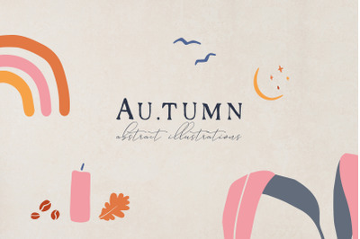 Abstract Autumn Illustrations