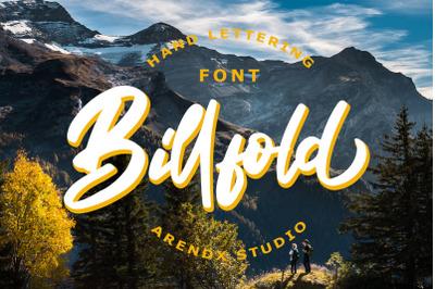 Billfold Handwritten Script