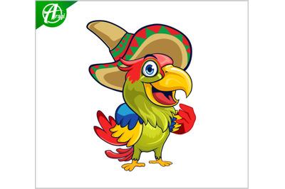 parrot sombrero