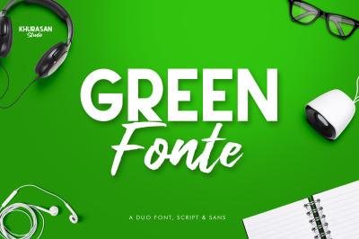 Green Fonte Font Duo