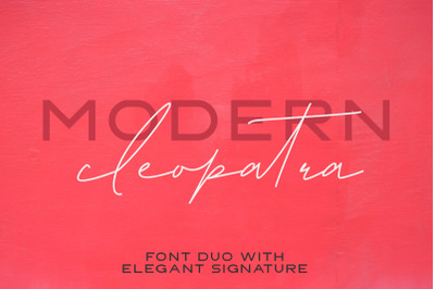 Modern Cleopatra | Font Duo
