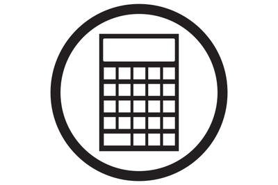 Device calculator icon black white