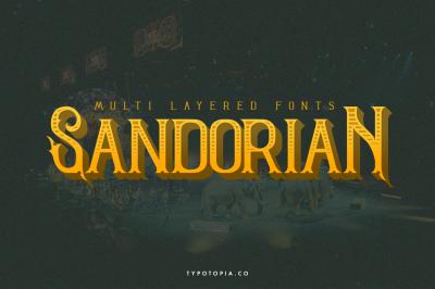 Sandorian Multi Layered Fonts