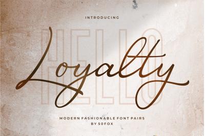Luxury - Loyalty Script Fonts