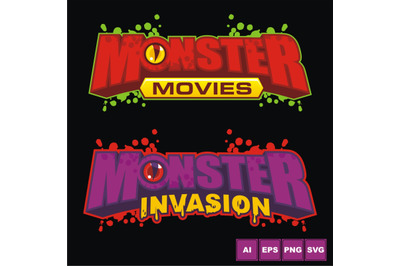 Monster Invasion Logo Design