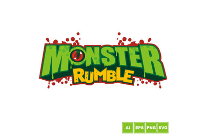 Monster Rumble Logo Design