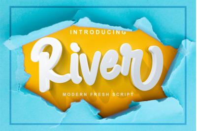 River - Modern Fresh Script