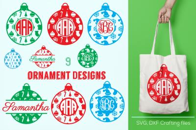 Christmas Ornament monogram frames svg, cricut ornaments svg,ornaments svg, Designs Svg cutting file, Cricut Design Space,Digital Cut Files