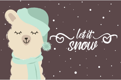 Llama let it snow