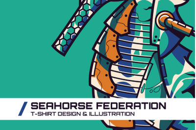 Seahorse Federation T-Shirt Illustration