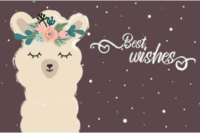 Best wishes llama
