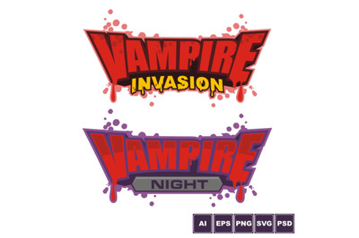 Vampire Invasion Logo Design