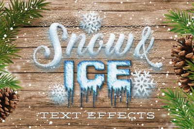 Snow & Ice Text Effects