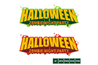 Halloween Party Logo Design
