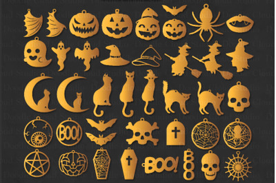 42 Halloween Earrings SVG, Halloween Earrings Template Bundle SVG