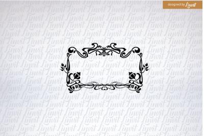 Wedding Logo,  Custom Wedding Logo, Art Nouveau Wedding Logo