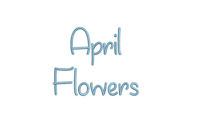 April Flowers 15 sizes embroidery font (MHA)