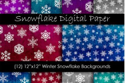Snow Digital Paper - Winter Snow Backgrounds