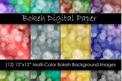 Bokeh Digital Papers - Ombre Bokeh Backgrounds