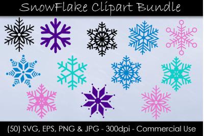 Snowflake SVG Bundle - Snowflake Clip Art