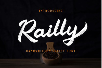 Railly - Handwritten Script Font