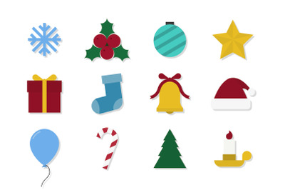 Christmas vector icons creative set