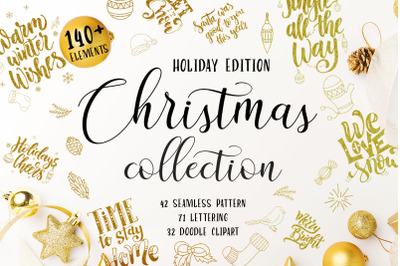 Christmas Collection-Lettering+Clipart