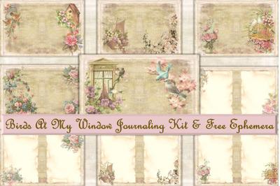 Journaling Kit with Free Ephemera. Printable PDF