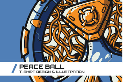 Peace Ball T-Shirt Illustration