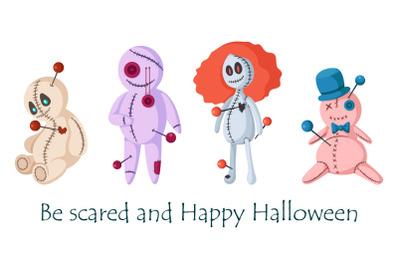 Halloween Voodoo dolls set