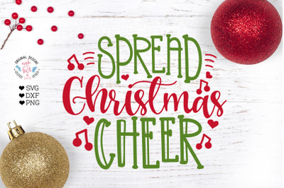 Spread Christmas Cheer - Christmas Cut File
