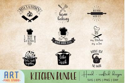 Kitchen Quotes Bundle SVG, Cooking SVG for Cricut