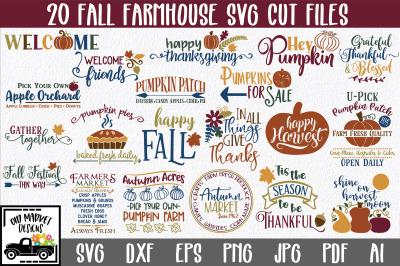 Fall Farmhouse SVG Cut file Bundle