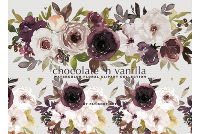Chocolate Vanilla Watercolor Set
