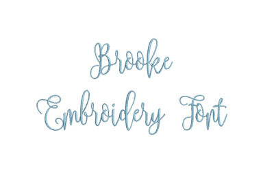 Brooke 15 sizes embroidery font