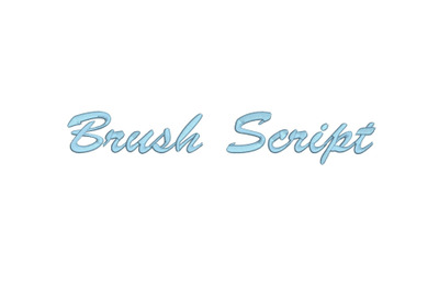 Brush Script 15 sizes embroidery font