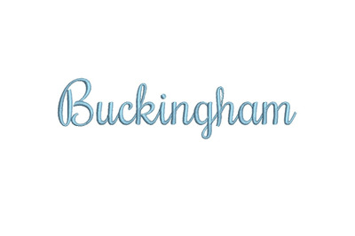 Buckingham 15 sizes embroiredy font