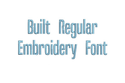 Built Regular 15 sizes embroidery font (RLA)