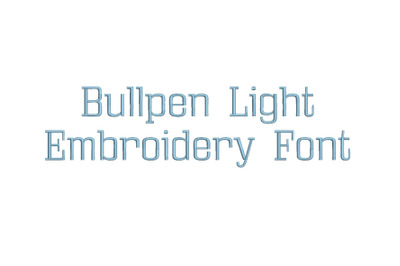 Bullpen Light 15 sizes embroidery font (LRA)