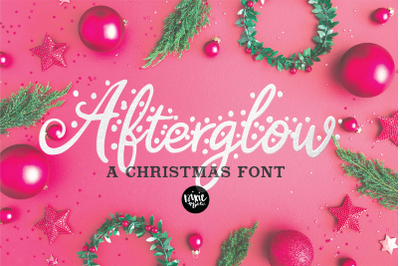 AFTERGLOW a Christmas Snow Holiday Font