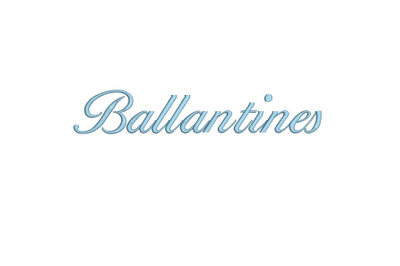 Ballantines 15 sizes embroidery font