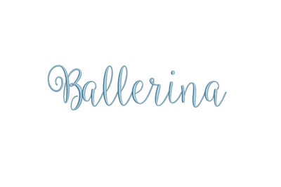 Ballerina 15 sizes embroidery font