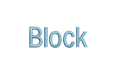 Block 15 sizes embroidery font