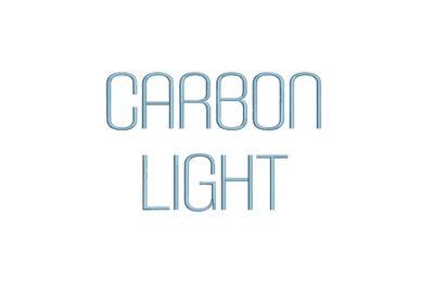 Carbon Light 15 sizes embroidery font