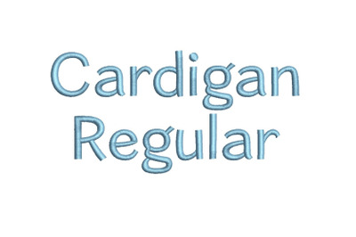 Cardigan Regular 15 sizes embroidery font