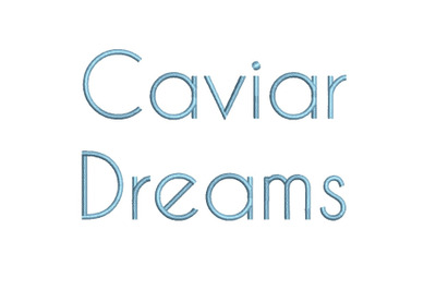Caviar Dreams 15 sizes embroidery font